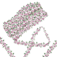 Gorgecraft Flower Polyester Trim Ribbon, for Curtain Lace Trimmings, Pink, 3/4 inches(20mm)