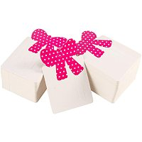 Paper Cardboard Hair Clip Display Cards, Rectangle with Bowknot , Camellia, 79x50mm