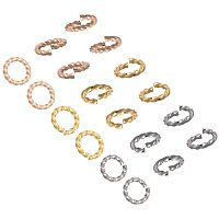Unicraftale 304 Stainless Steel Jump Rings, Open Jump Rings, Twisted, with Bead Container, Mixed Color, 6x1mm; Inner Diameter: 4mm; about 90pcs/box