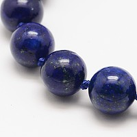 Arricraft Dyed Round Natural Lapis Lazuli Beads Strands, 14mm, Hole: 1mm, about 9pcs/strand, 5.5 inches~5.9 inches