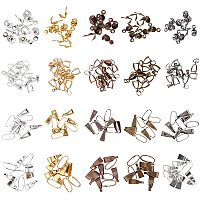 Bails Sets, with Brass Snap on Bails & Pinch Bails, Iron Bead Tips, Antique Bronze & Gunmetal & Golden & Red Copper & Silver Color Plated, 600pcs/box