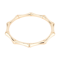 Alloy Bag Handles, for Bag Handles Replacement Accessories, Bamboo Joint Shape, Light Gold, 11x11x0.8cm, Inner Diameter: 8.9cm
