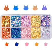 Olycraft Shining Nail Art Glitter, Manicure Sequins, Making Jewelry Filling for DIY Jewelry, Star, Mixed Color