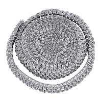 BENECREAT Polyester Ribbons, Elastic Crochet Headband, for Baby Headbands, Pink, 40x1.5mm