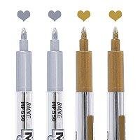 Paint Marker, Marking Pen, Daily Supplies, Mixed Color, 140.5x12x16mm; 2colors, 2pcs/color, 4pcs/set