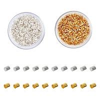 ARRICRAFT Brass Crimp Beads, Tube, Mixed Color, 1.5x1.5mm, Hole: 1mm, 4000pcs/set