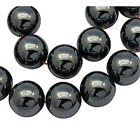 Arricraft Non-Magnetic Synthetic Hematite Beads Strands, Round, 8mm, Hole: 1mm, about 50pcs/strand