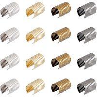 Iron Tassel End Cord, Column, Mixed Color, 14x8.5~9mm, 4 colors, 50pcs/color, 200pcs/box