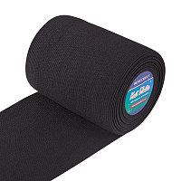Flat Elastic Rubber Band, Webbing Garment Sewing Accessories, Black, 100mm
