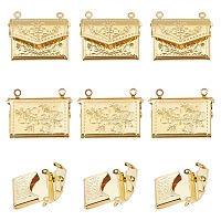 ARRICRAFT Brass Locket Pendants, Photo Frame Charms for Necklaces, Bag, Golden, 16.8x21.8x3.5mm, Hole: 1mm, 20pcs/box