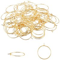 Unicraftale 304 Stainless Steel Wine Glass Charms Rings, Hoop Earring Findings, DIY Material for Basketball Wives Hoop Earrings, with Bead Container, Golden, 20x0.7mm, 100pcs/box