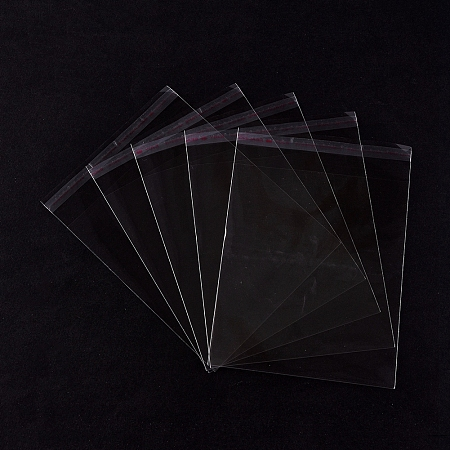 OPP Cellophane Packaging Bags, for Bake Packaging, Rectangle, Clear, 18x12.9cm, Thickness: 0.05mm; 100pcs/bag