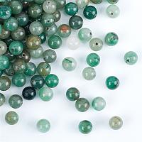 Olycraft Natural Green Aventurine Beads Strands, Round, 8mm, Hole: 1mm, 200pcs/box