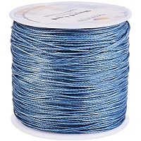 Arricraft 116 Yards 0.5mm Round Waxed Polyester Cords Thread Beading String Spool for Bracelet Necklace Jewelry Making Macrame Supplies, Gray