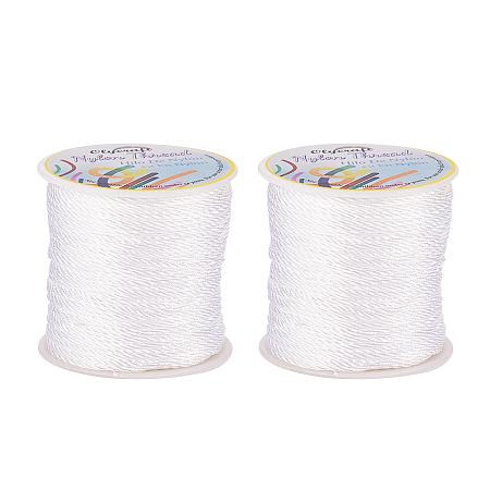 Olycraft Nylon Thread, White, 1.0mm; about 45m/roll