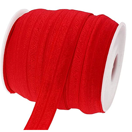 BENECREAT Flat Elastic Rubber Cord/Band, Webbing Garment Sewing Accessories, Red, 15mm; about 75m/roll