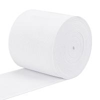 BENECREAT Flat Elastic Rubber Band, Webbing Garment Sewing Accessories, White, 90mm; 8m/set
