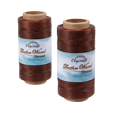 OLYCRAFT Waxed Polyester Cord, Coconut Brown, 0.8mm; about 260m/roll