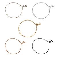 UNICRAFTALE Adjustable Stainless Steel Bracelet Making, Slider Bracelets, Mixed Color, 5pcs/box