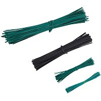 PVC Plastic Wire Twist Ties, Cable Ties, with Iron Core, Mixed Color, 400pcs/set