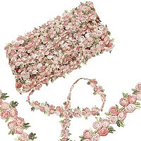 GORGECRAFT Flower Polyester Trim Ribbon, for Curtain Lace Trimmings, Light Coral, 3/4 inches(20mm)