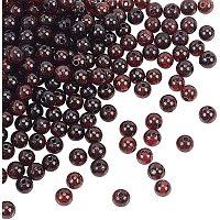 Olycraft Natural Garnet Beads Strands, Round, 4mm, Hole: 1mm; about 98pcs/Strand, 15.55''(39.5cm), 2strand/box