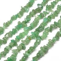 SUNNYCLUE Natural Aventurine Chip Beads, 5~8x5~8mm, Hole: 1mm, about 400pcs/box
