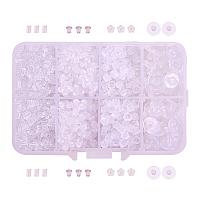 Plastic Ear Nuts, Earring Backs, Clear, 2.5~10x3~6mm, 1666pcs/Box