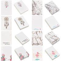 Cardboard Necklace Display Cards, Rectangle, Mixed Patterns, 6.95x5x0.05cm, 8 patterns, 35pcs/pattern, 280pcs/set