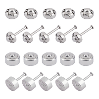 304 Stainless Steel Lapel Pin Backs, Brooch Findings, Stainless Steel Color, 4~5mm, Pin: 0.8mm; 40sets/box