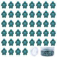 SUNNYCLUE Synthetical Turquoise Beads, Dyed, Tortoise, Turquoise, 18x14x8mm, Hole: 1mm, 95~100pcs/box