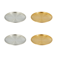 Unicraftale 201 Stainless Steel Dinner Plate Serving Tray, Flat Round, Mixed Color, 4pcs/set