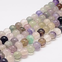 Arricraft Natural Fluorite Bead Strands, Round, 6mm, Hole: 1mm, about 63pcs/strand, 15.5 inches