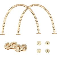 Alloy Bag Strap, with Iron Screw, Replacement Handbag Decoration Bags Straps, Light Gold, 105x137x4mm