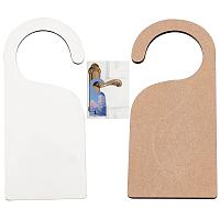CREATCABIN MDF Sublimation Hanging Door Plate, White, 22.6x10x0.5cm, 2pcs/set