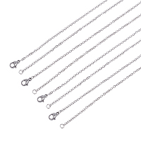 Unicraftale Classic Plain 304 Stainless Steel Mens Womens Cable Chain Necklaces, Stainless Steel Color, 17.7 inches(45cm), 1.5mm; 30pcs/box