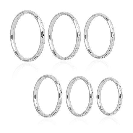 Unicraftale 304 Stainless Steel Finger Rings, Stainless Steel Color, Size 4~9, 14~19mm; 12pcs/box