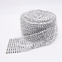 FINGERINSPIRE Plastic Rivets, Cone, Platinum, 8x6.5mm