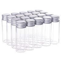 BENECREAT 20 Pack 15ml/0.5oz Glass Bottles Sample Vials with Screwed Aluminum Caps for Wishing Message Bottle, Sample Liquid, Arts & Crafts, Wedding Favors Decorations