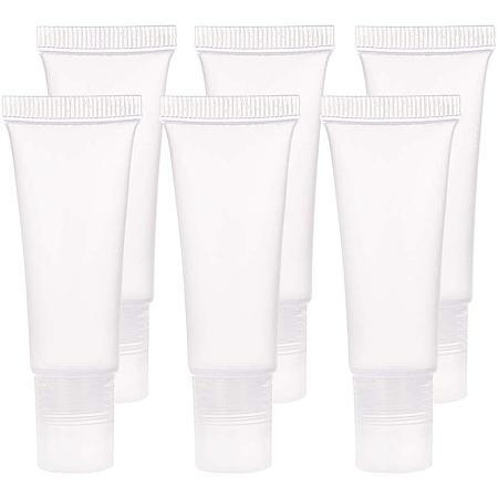 BENECREAT 30 Pack 10ml Lip Gloss Tubes Empty Lip Balm Refill Tubes Soft Squeeze Tubes for DIY Cosmetics