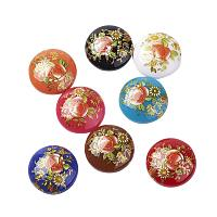 NBEADS 10PCS 25MM Flat Back Printed Flower Pattern Glass Half Round Dome Cabochons for Photo Craft Jewelry Making