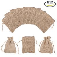 PandaHall Elite 30 Bags Burlap Bags Pouches Drawstring Bags Jewelry Pouches Bags Drawstring Bags Gift Bags 9x7cm