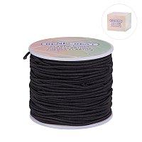 BENECREAT 2mm 50 Yard Elastic Cord Stretch Thread Beading Cord Fabric Crafting String (2mm, Black)