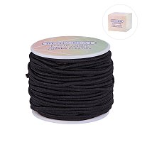 BENECREAT 3mm 20 Yard Elastic Cord Stretch Thread Beading Cord Fabric Crafting String (3mm, Black)
