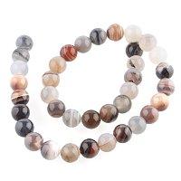 NBEADS 1 Strand 38PCS 10mm Botswana Agate Gemstone Beads, Loose Bead Bulk for Bracelet Necklace Jewelry Making, 14.96 Inch