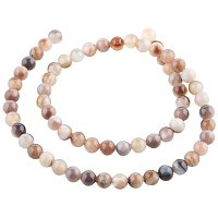 NBEADS 1 Strand 63PCS 6mm Round Natural Gemstone Botswana Agate Loose Beads, Gemstone Beads Assortment Lot for Bracelet Necklace Jewelry Making, 15.35 Inch