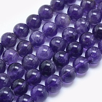 ARRICRAFT Natural Amethyst Beads Strands, Round, 6mm, Hole: 1mm; about 65pcs/strand, 15.7 inches(39.8cm)