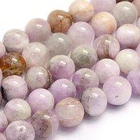 "NBEADS 1 Strand 51pcs Grade AB Natural Kunzite Precious Gemstone Loose Beads, 8~8.5mm Round Smooth Charm Beads for Jewelry Making, 1 Strand 15.7"""