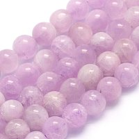 """NBEADS 1 Strand 64pcs Grade A+ Natural Kunzite Precious Gemstone Loose Beads, 6~6.5mm Round Smooth Charm Beads for Jewelry Making, 1 Strand 15.5"""""""