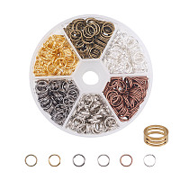 PandaHall Elite Multicolor Iron Split Rings Diameter 8mm Double Loop Jump Ring for Jewelry Making, about 400pcs/box